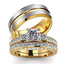 couples rings gold images Loversring his and hers couples rings women 10k yellow jpg