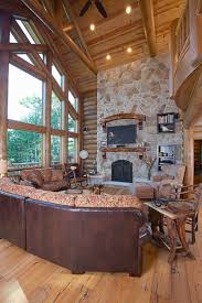 Log Home Interiors 37 Best Great Rooms Images On Pinterest Log Homes Wisconsin And