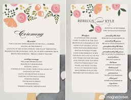 Printable Wedding Programs Free 2 Modern Wedding Program And Templates Modern Wedding Program