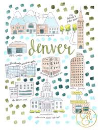 Colorado Tourism Map by Denver Map Print Find Super Cheap International Flights