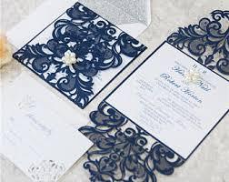 wedding invitations navy navy wedding invites etsy