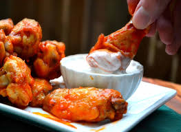 tender crunchy wings with kefir ranch dressing