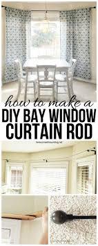 kitchen curtain ideas diy diy bay window curtain rod for less than 10 diy bay window
