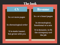 Resume 1 Or 2 Pages Cv And Resume