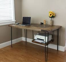 Small Modern Desk Modern Desk With Storage Small Inspire Q Nelson Industrial Rustic
