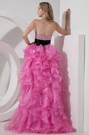 pink short front long back skirt cocktail party dress