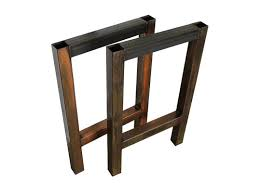 Build Your Own Kitchen Table by Patina Metal H Table Legs Set Diy Build Your Own Modern Designer