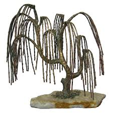 weeping willow tree sculpture attributed to c jere for sale at 1stdibs