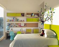 bedroom luxury pink kids wall decor white bed white bookcase
