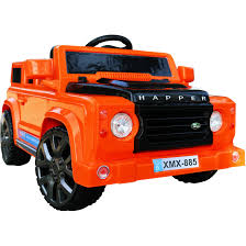 land rover orange rebo land rover defender style 12v child u0027s ride on jeep orange