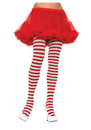 stockings halloween christmas u0026 halloween costume accessory red u0026 white striped tights