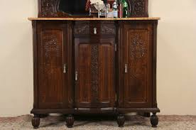 Marble Top Sideboards And Buffets Sold Art Deco 1925 Antique Marble Top Oak Sideboard Server Bar