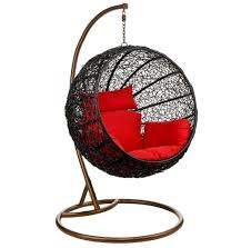 Swingasan Cushion by Furniture Fancy Black Round Swingasan Chair With Captivating Red