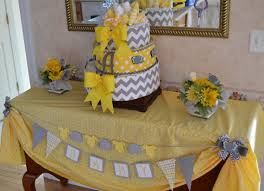 yellow and gray baby shower gray and yellow party decorations ba shower decorations yellow and