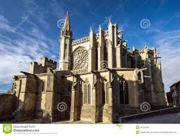 Carcassonne Beautiful Medieval Cathedral In Carcassonne Royalty Free Stock