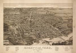 Utk Map 1 Birds Eye View Knoxville 1886 Tn1 Mcclung Museum Of Natural