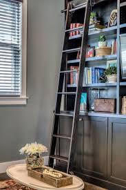 Sliding Bookshelf Ladder Enchanting Bookshelf With Sliding Ladder Pics Decoration Ideas