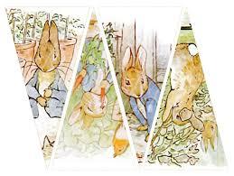 rabbit banner rabbit banner twelve triangles 39 x 75 inches by boxesbybrkr