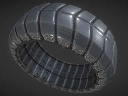 3d model futuristic tire sci fi plus version cgtrader
