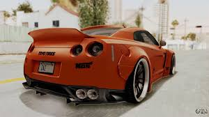 nissan gtr gta v nissan gt r r35 liberty walk lb performance for gta san andreas