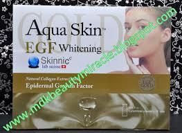 aqua skin egf gold mdk whitening