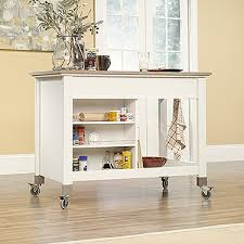 mobile kitchen islands sauder mobile kitchen island soft white 416879