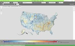 Interactive Map Of Usa by Us Health Map Institute For Health Metrics And Evaluation