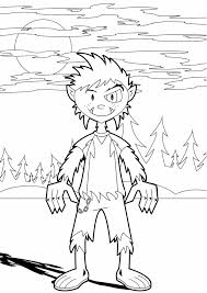 Free Printable Coloring Pages For Halloween by Halloween Coloring Pages Werewolf Coloring Page