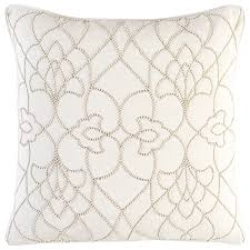 candice olson by surya dotted pirouette cream decorative pillow
