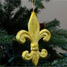 6 gold leaf fleur de lis ornament mz1612h6 craftoutlet