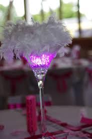 boulette papier mariage vase martini led et plumes mariage 2eme partie