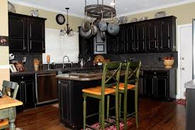 oak kitchen cabinets painted black before and after nrtradiant com