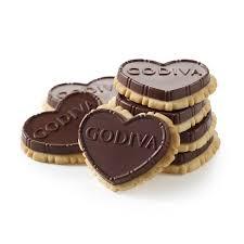 Heart Shaped Mug by Dark Chocolate Biscuit Gift Pack Godiva
