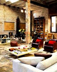 apartments fascinating modern loft industrial bricks element for