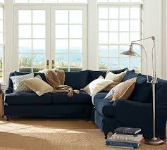 Navy Sectional Sofa Carlisle Slipcovered Sectional 3 Piece L Shaped Corner Sectional