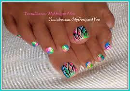 summer toenail easy neon toenails nail gallery