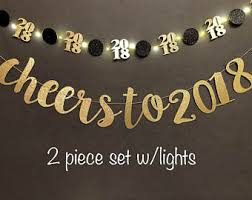 new years supplies new years banner etsy