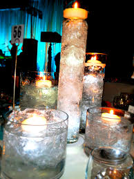 Floating Candle Centerpieces by Teal And Purple Centerpieces Meghan Chose Two Different