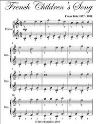 childrens song easy piano sheet pdf by franz behr