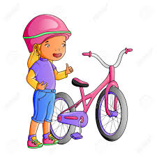 tricycle cartoon cartoon cute little with bicycle royalty free cliparts