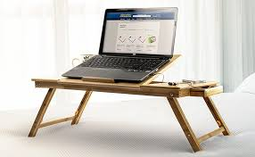 amazon com aleratec natural bamboo adjustable laptop stand up to