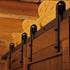 decor exterior sliding barn door track system library hall style