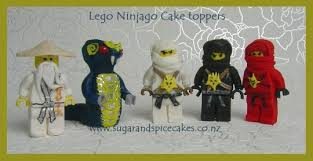 ninjago cake topper ninjago characters cake toppers in fondant cake by