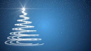 blue christmas tree xmas holiday celebration winter snow animation
