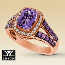 clearance engagement rings clearance le vian diamond sapphire amethyst ring