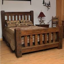 Timber Frame Bed Rustic Reclaimed Barn Wood Bed