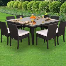 Round Table Patio Dining Sets - dining tables 11 piece outdoor dining set 9 piece square patio