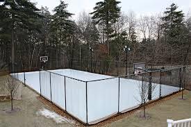 backyard hockey rink boards backyard and yard design for village