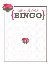 Baby Shower Printable Bingo Great Blank Bingo Card Template Contemporary Example Resume