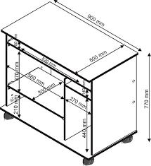 Schreibtisch 90 Pc Schreibtisch Und Computertisch Breite 90 Cm Nr 1169